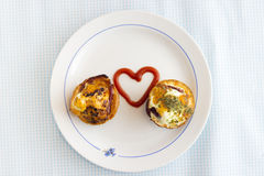 Paleo Breakfast - Bacon and Eggs Muffins Royalty Free Stock Photography