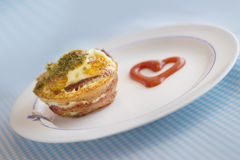Paleo Breakfast - Bacon and Eggs Muffins Stock Photography