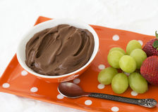 Paleo Chocolate Avocado Pudding Stock Image