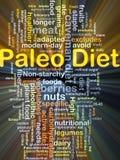 Paleo-Diäthintergrund-Konzeptglühen Lizenzfreie Stockfotografie