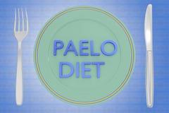 Paleo-Diätkonzept lizenzfreie abbildung