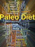 Paleo diet background concept glowing Royalty Free Stock Photography