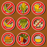 Paleo diet stickers Royalty Free Stock Images