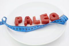 Paleo diet and weight loss Royalty Free Stock Photos