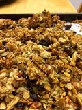 Paleo granola gluten uwalnia zdrowego zdjęcia stock