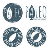 Paleo Icon Set Stock Photos