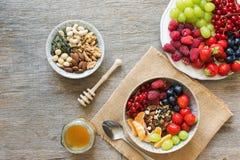 Paleo style breakfast, grain free granola Royalty Free Stock Images