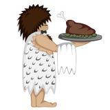 Paleo waiter Stock Image