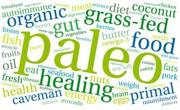 Paleo word cloud. On a white background Stock Image