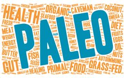 Paleo Word Cloud. On a white background Stock Photography