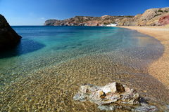 Paleochori (or Paliochori) beach. Milos. Cyclades islands. Greece Stock Photography