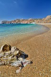 Paleochori (or Paliochori) beach. Milos. Cyclades islands. Greece Stock Images