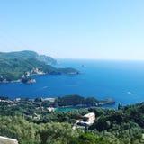 paleokastrica νησιών της Κέρκυρας Ελλάδα ακτών Στοκ εικόνες με δικαίωμα ελεύθερης χρήσης