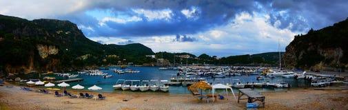 paleokastrica νησιών της Κέρκυρας Ελλάδα ακτών στοκ φωτογραφία με δικαίωμα ελεύθερης χρήσης