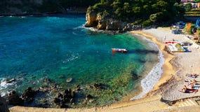 paleokastrica νησιών της Κέρκυρας Ελλάδα ακτών Στοκ φωτογραφίες με δικαίωμα ελεύθερης χρήσης