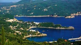 paleokastrica острова corfu Греции свободного полета Стоковое фото RF