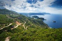 Paleokastrica su Kerkyra, Grecia fotografia stock