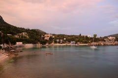 Paleokastritsa海湾 图库摄影
