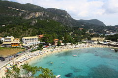 Paleokastritsa bay. View from above Royalty Free Stock Photo