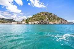 Paleokastritsa bay on Corfu, Greece. Famous Paleokastritsa bay on Corfu Island, Greece Royalty Free Stock Images