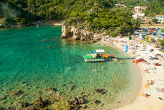 Paleokastritsa bay, Corfu Island, Greece Royalty Free Stock Photos