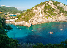 Paleokastritsa bay, Corfu Island, Greece Stock Photo