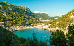 Paleokastritsa bay, Corfu Island, Greece Royalty Free Stock Image