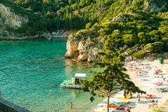 Paleokastritsa bay, Corfu Island, Greece Stock Image