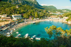 Paleokastritsa bay, Corfu Island, Greece Royalty Free Stock Photography
