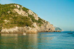 Paleokastritsa bay, Corfu Island, Greece Royalty Free Stock Images
