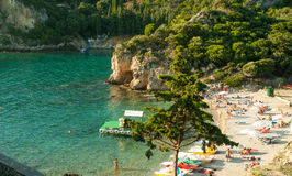 Paleokastritsa bay, Corfu Island, Greece Stock Photos