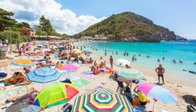 Paleokastritsa beach Stock Photos