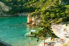 Paleokastritsa-Bucht, Korfu-Insel, Griechenland Stockbild