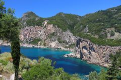 Paleokastritsa, Corfu Royalty Free Stock Photography