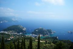 Paleokastritsa Corfu royalty free stock images