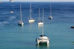 Paleokastritsa, eiland Korfu, Ionische overzees, Griekenland Stock Afbeelding