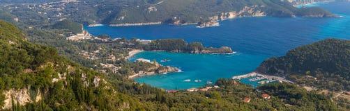 Paleokastritsa on the Greek island of Corfu. Greece Stock Photo