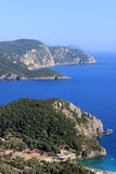 Paleokastritsa gulf on Corfu island Royalty Free Stock Photography