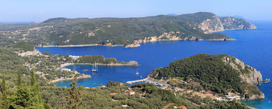 Paleokastritsa gulf on Corfu island Royalty Free Stock Images