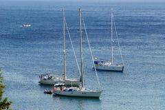 Paleokastritsa, isla Corfú, mar jónico, Grecia Fotos de archivo libres de regalías