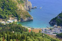 Paleokastritsa views, Corfu Stock Photography