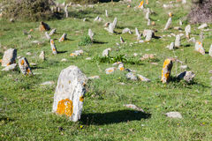 Paleolithic cemeteries. At Petrota - Greece Stock Photography