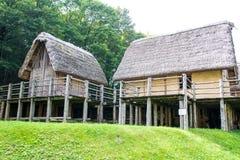 Paleolithic pile-dwelling Stock Photography