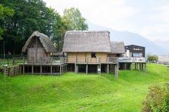 Paleolithic pile-dwelling Stock Photo