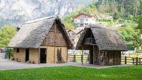 Paleolithic pile-dwelling Royalty Free Stock Images