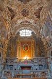 Palerme - autel latéral de coeur de Jésus dans le chiesa del Gesu de La d'église Images stock