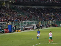 Palerme, Italie - 2013, le 6 septembre - l'Italie contre le qualificateur 2014 de coupe du monde de la Bulgarie - de la FIFA Image libre de droits
