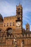 PALERME, ITALY†«le 3 janvier 2017 : Une des attractions principales de la ville - cathédrale de Palerme Image stock