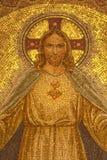Palerme - mosaïque de Jesus Christ d'église Convento Dei Carmelitani Scalzi Photos libres de droits