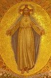 Palerme - mosaïque de Jesus Christ d'église Convento Dei Carmelitani Scalzi Photo stock